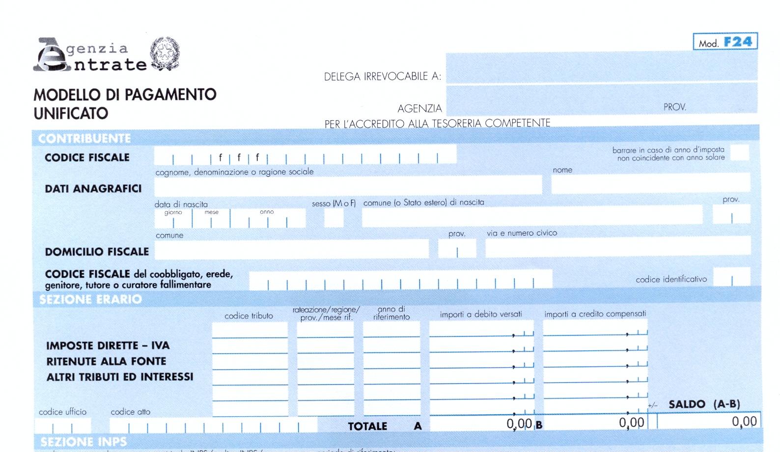 F24 il nuovo online for Pagamento imu