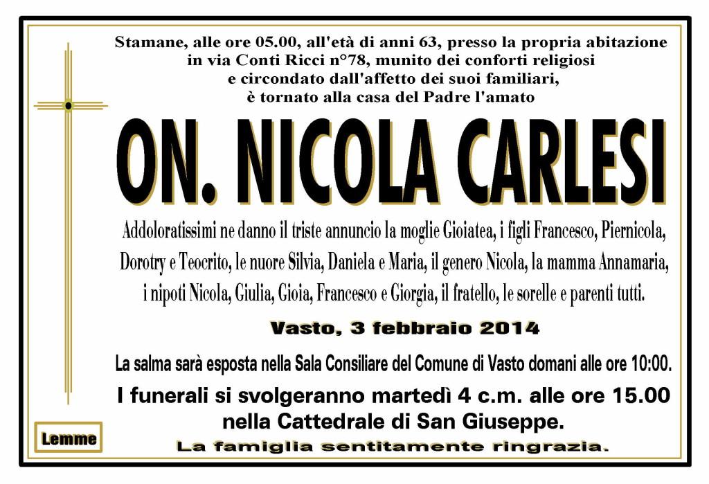 NICOLA CARLESI
