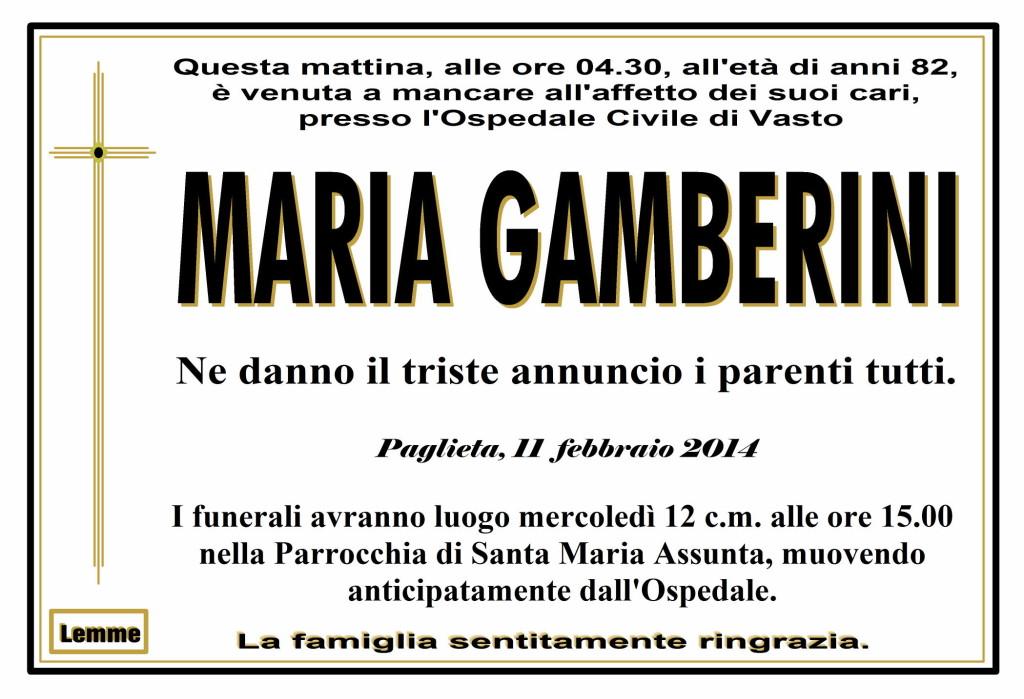 MARIA GAMBERINI
