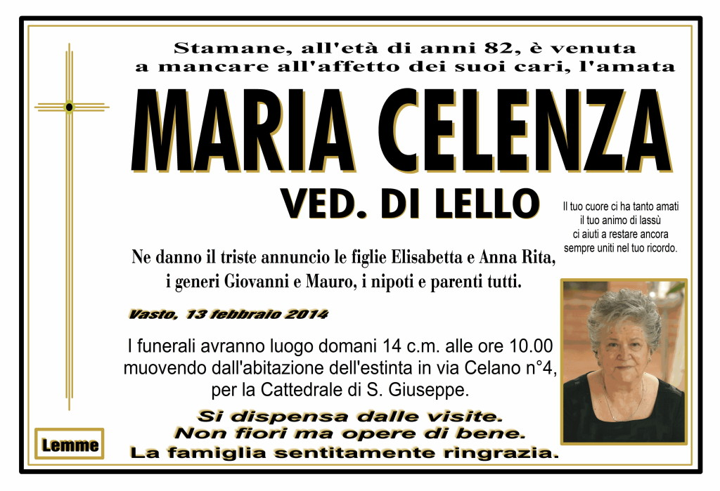 MARIA CELENZA