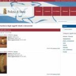 oggetti rubati, sito Polizia