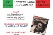 """Il sindaco Magnacca """"Il voto alle donne, conquista di democrazia"""""""