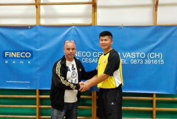Tennistavolo, il tecnico cinese Shan Jun al fianco di Caserta