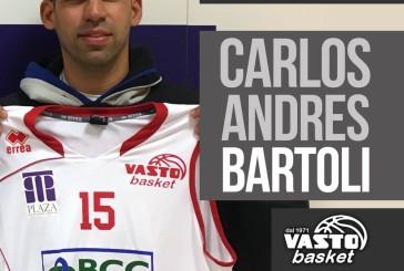 Vasto Basket, siglato l'accordo con Andres Bartoli