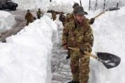 Maltempo, arriva l'Esercito in Abruzzo