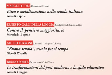"""Domani l'incontro """"Contro il pensiero maggioritario"""" sul tema della scuola italiana"""