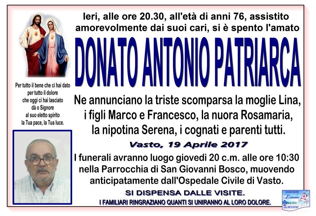 DONATO ANTONIO PATRIARCA