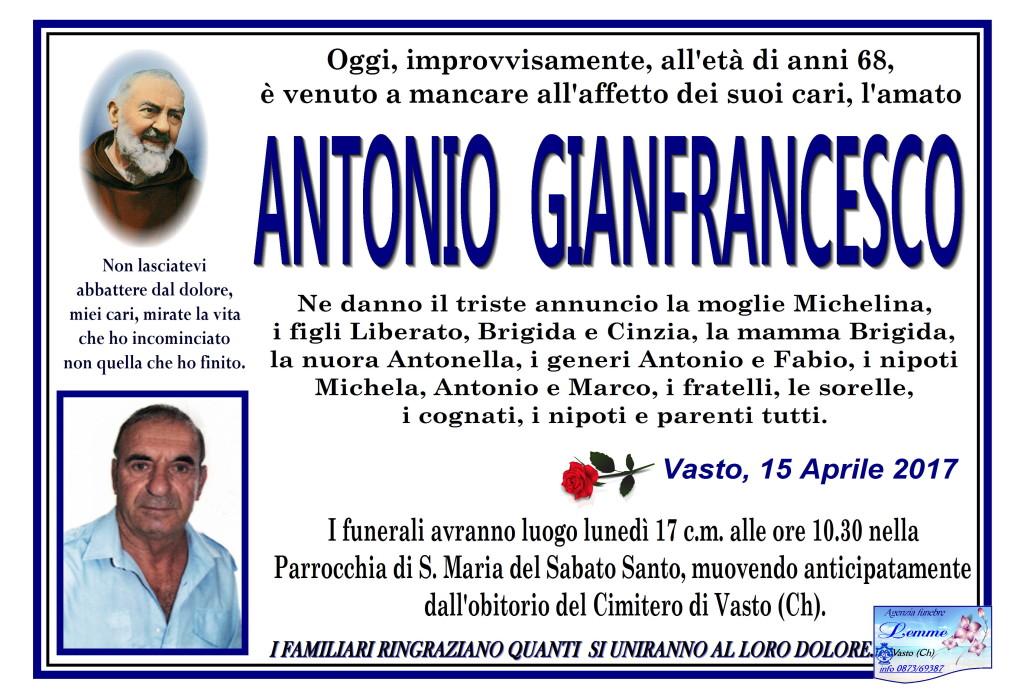ANTONIO GIANFRANCESCO