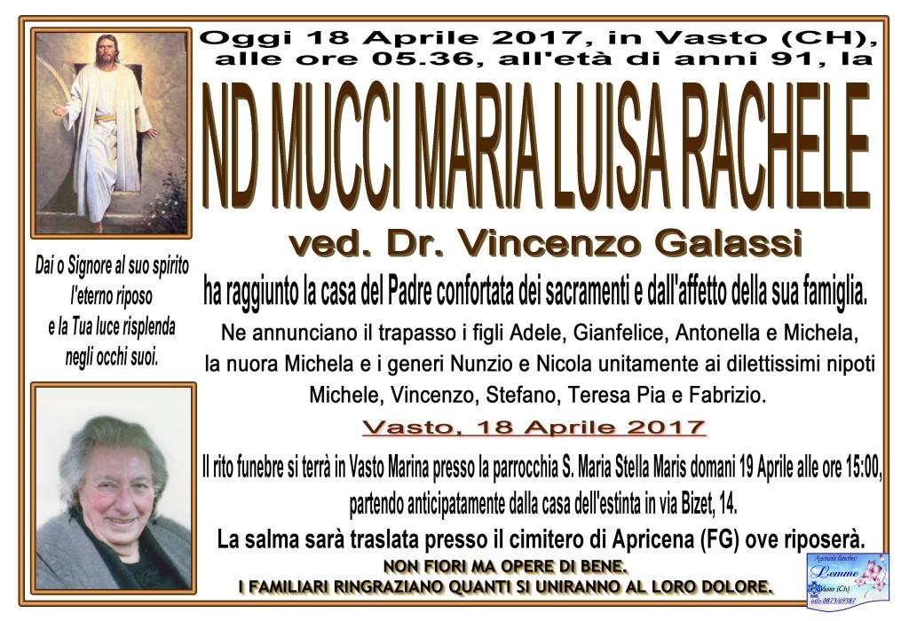 MARIA LUISA RACHELE MUCCI