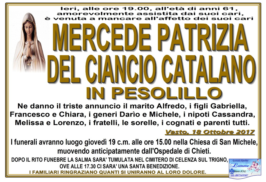 MERCEDE PATRIZIA DEL CIANCIO CATALANO