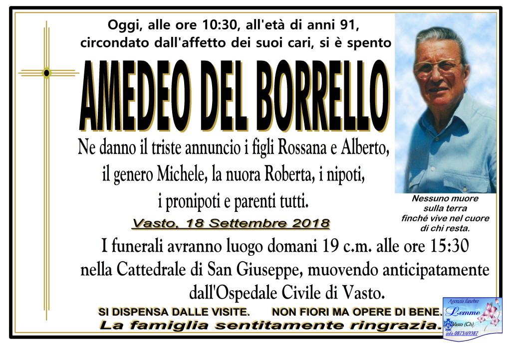 AMEDEO DEL BORRELLO