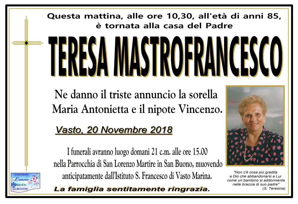 TERESA MASTROFRANCESCO