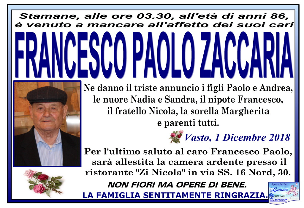 FRANCESCO PAOLO ZACCARIA