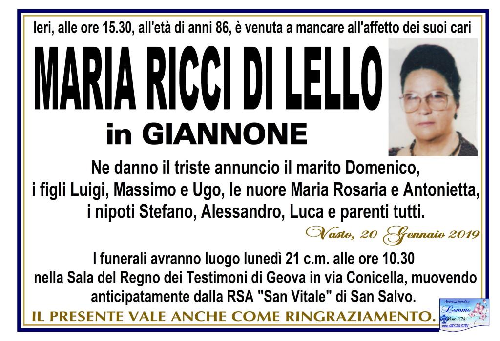 MARIA RICCI DI LELLO