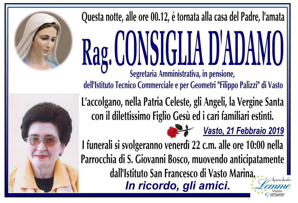 CONSIGLIA D'ADAMO