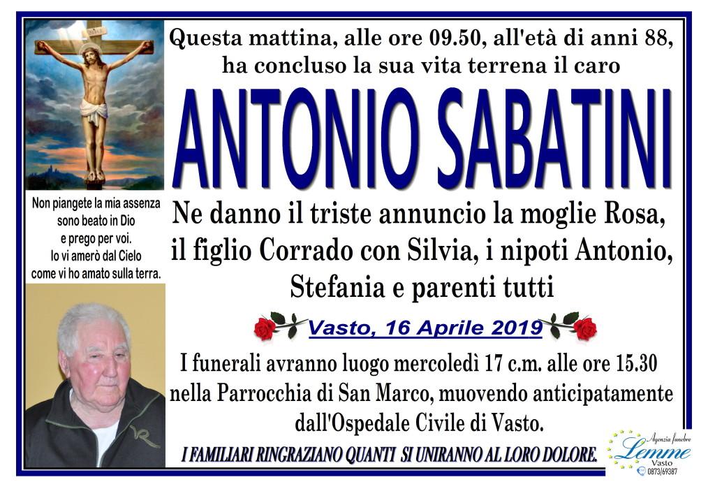 ANTONIO SABATINI