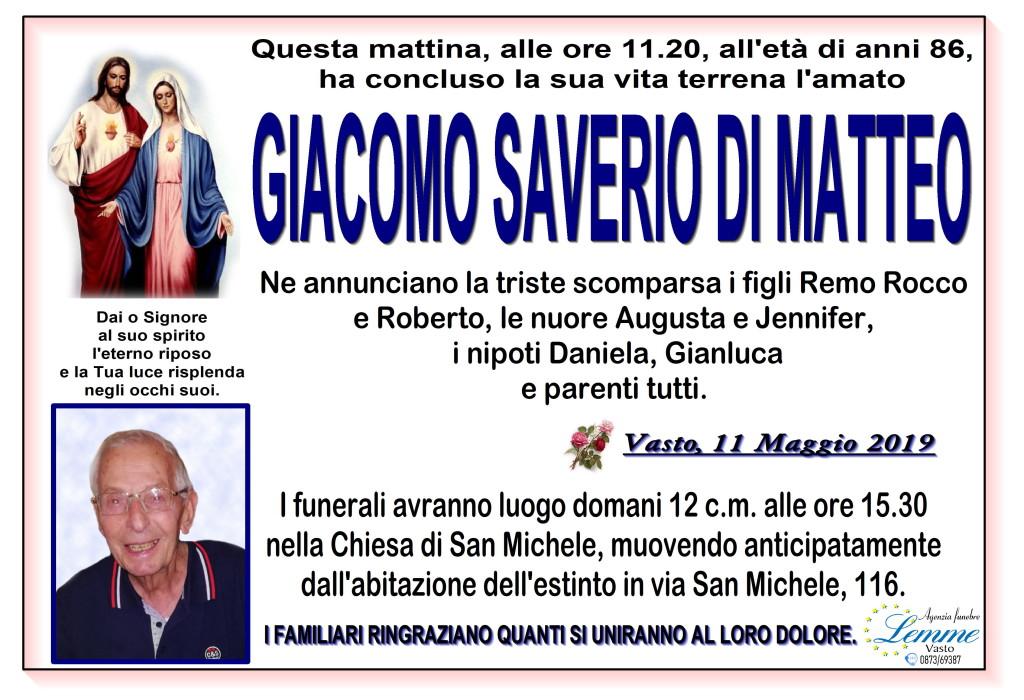 GIACOMO SAVERIO DI MATTEO