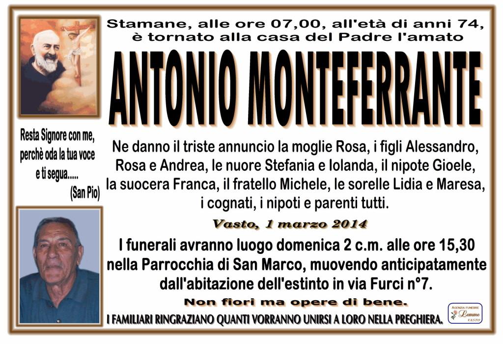 ANTONIO MONTEFERRANTE