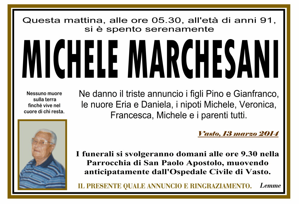 MICHELE MARCHESANI
