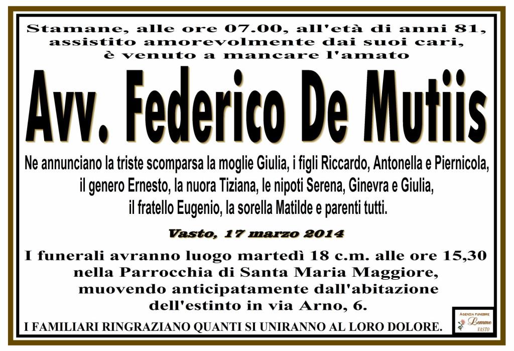 FEDERICO DE MUTIIS