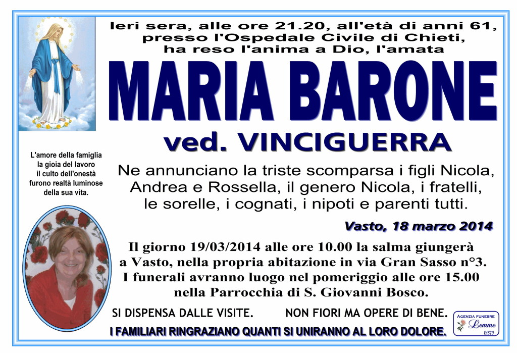 MARIA BARONE