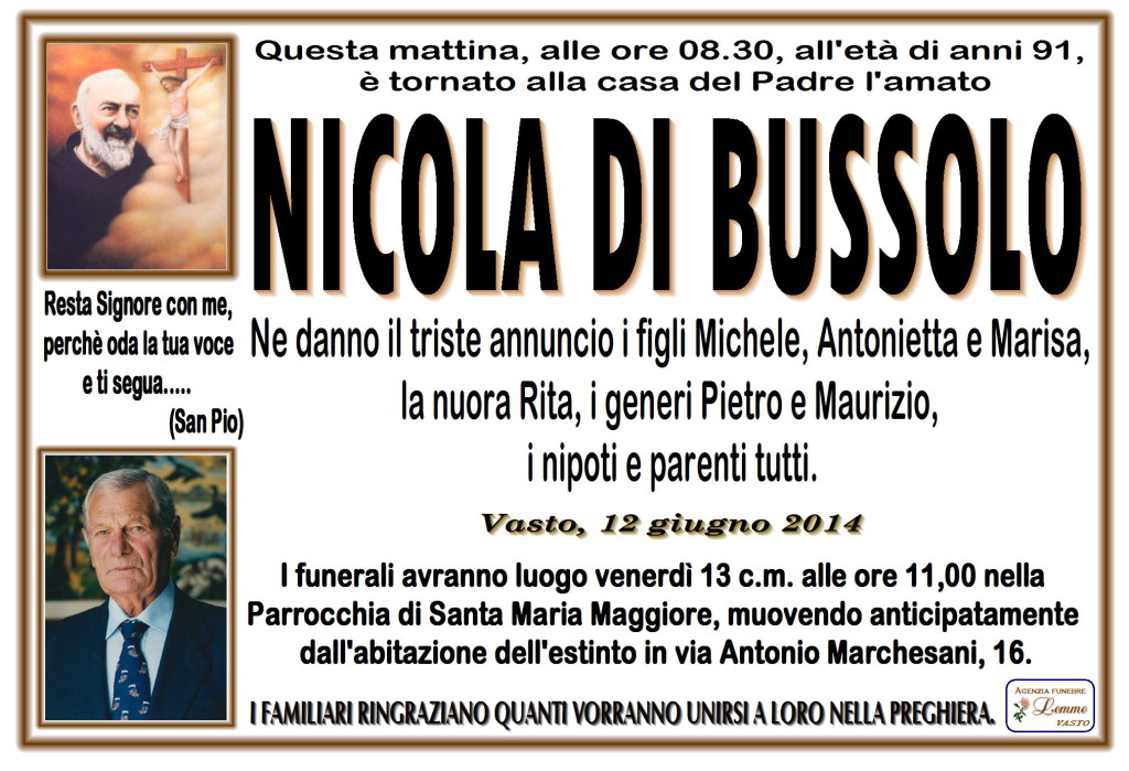 NICOLA DI BUSSOLO