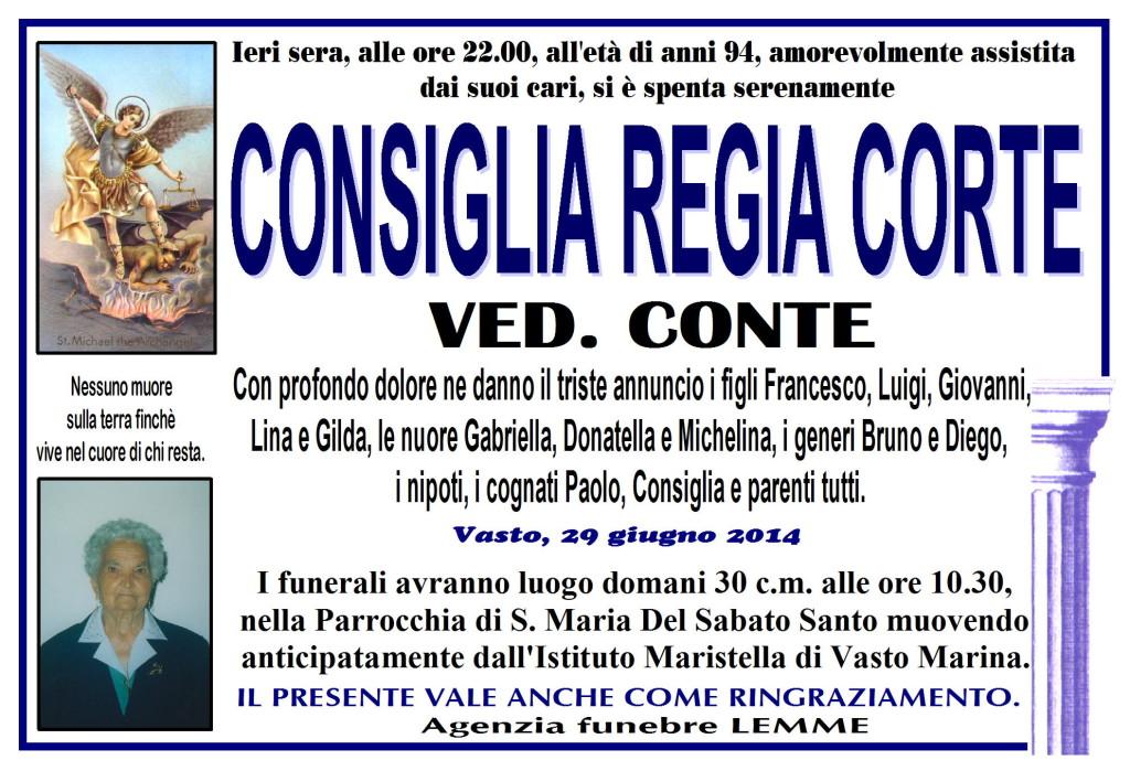 CONSIGLIA REGIA CORTE
