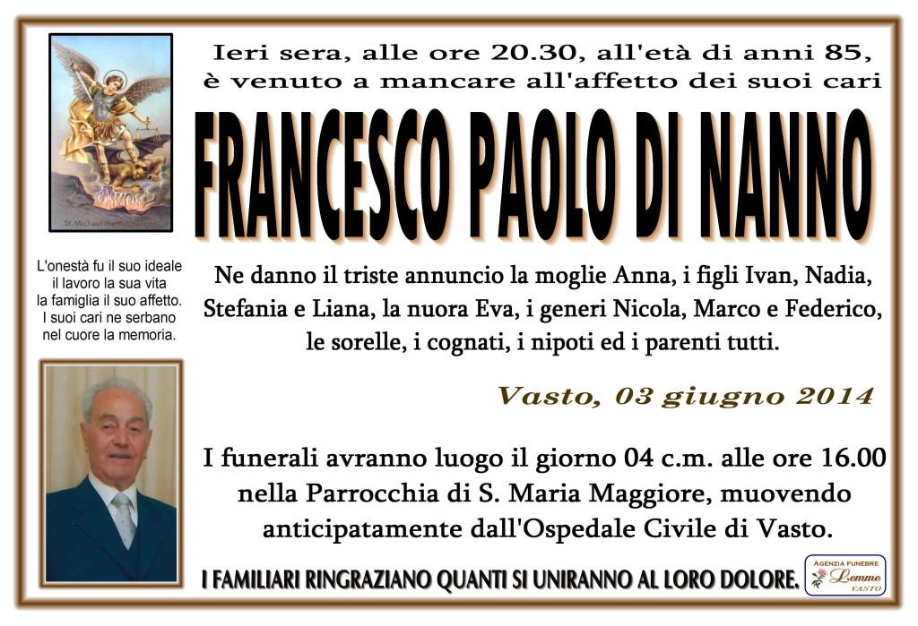 FRANCESCO PAOLO DI NANNO