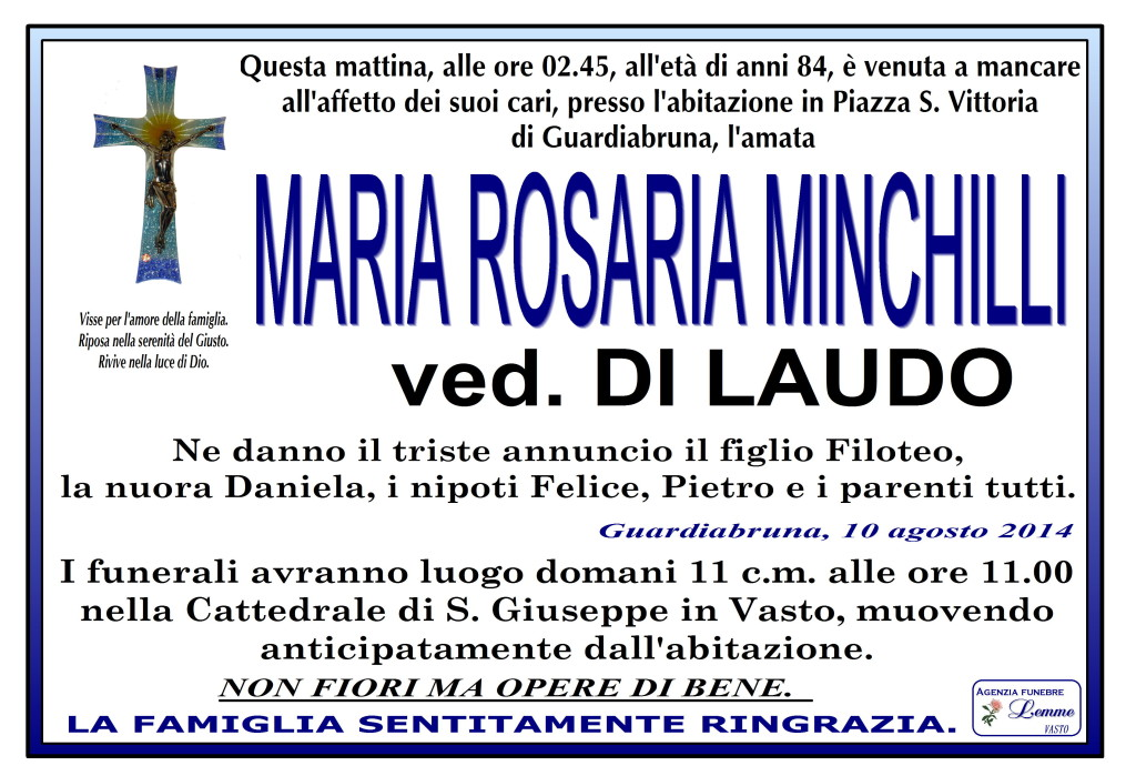 MARIA ROSARIA MINCHILLI