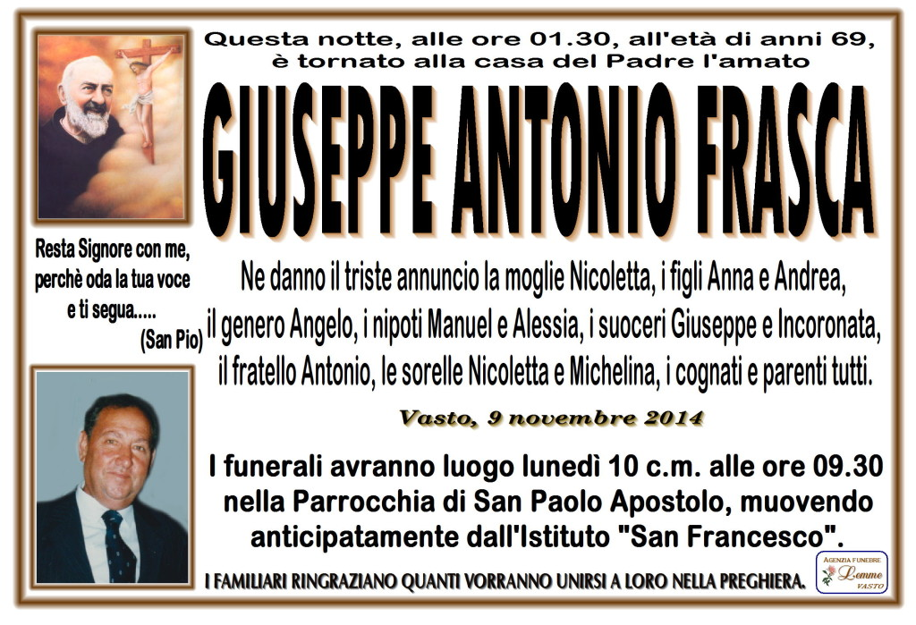 GIUSEPPE ANTONIO FRASCA