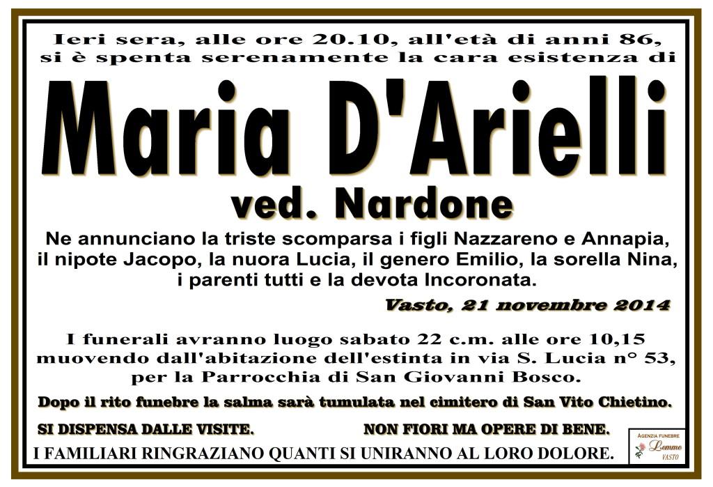 MARIA D'ARIELLI