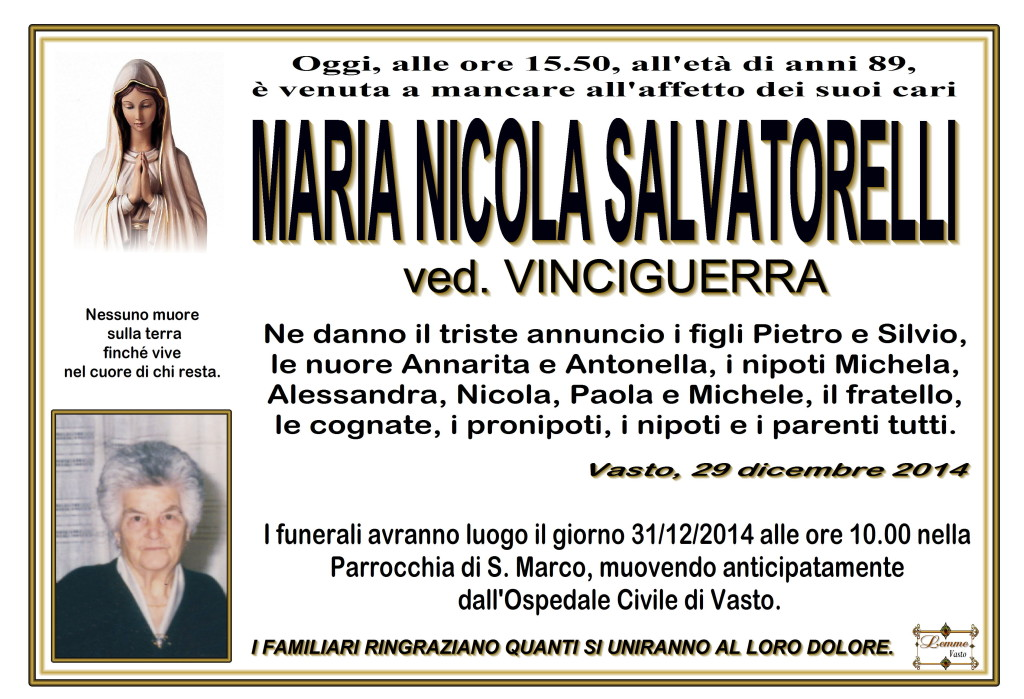 MARIA NICOLA SALVATORELLI