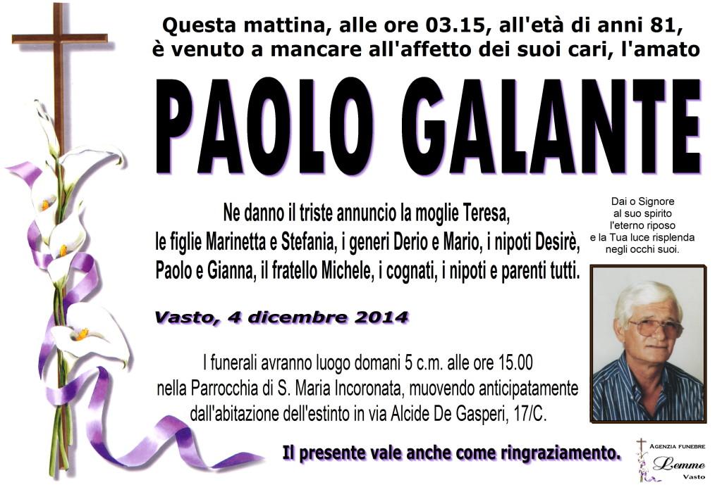 PAOLO GALANTE