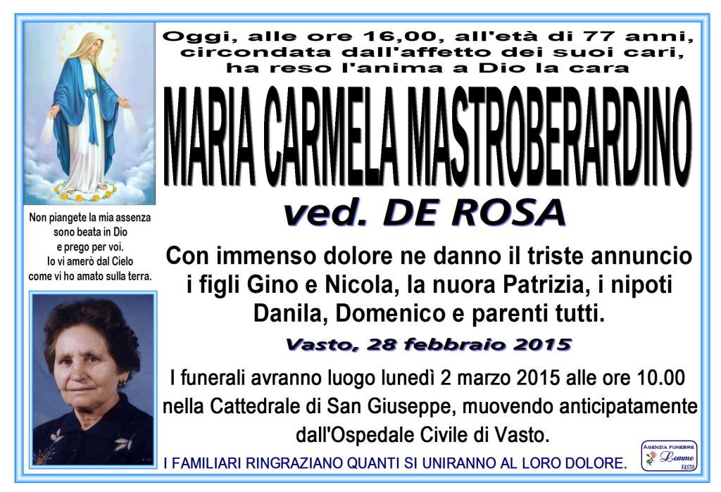 MARIA CARMELA MASTROBERARDINO