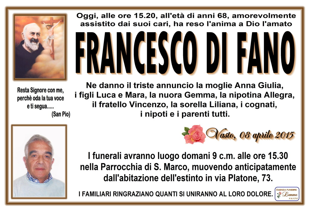 FRANCESCO DI FANO