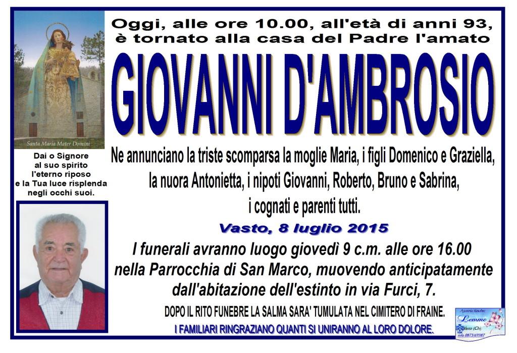 GIOVANNI D'AMBROSIO