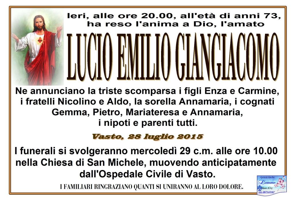 LUCIO EMILIO GIANGIACOMO