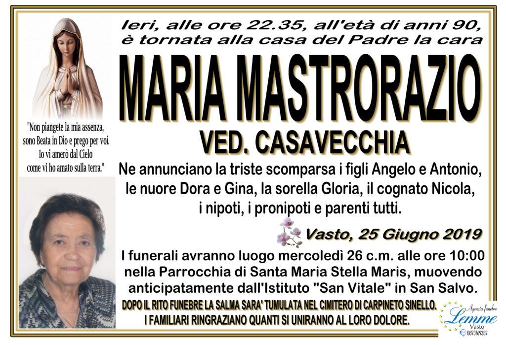 MARIA MASTRORAZIO