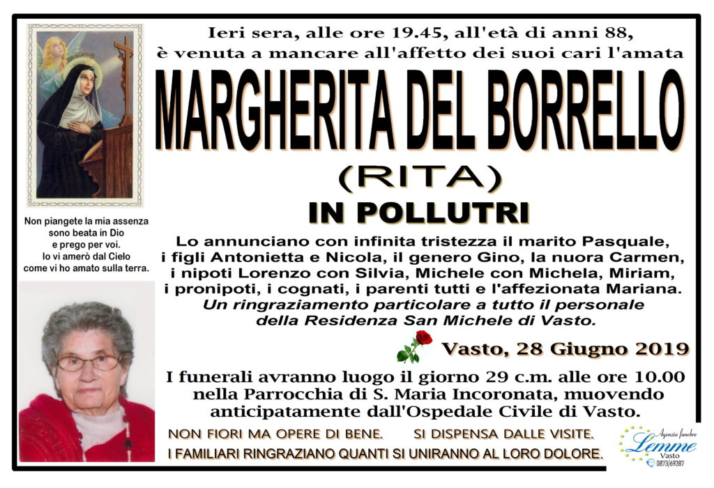 MARGHERITA DEL BORRELLO