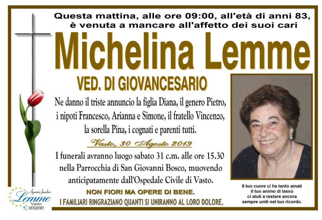 MICHELINA LEMME