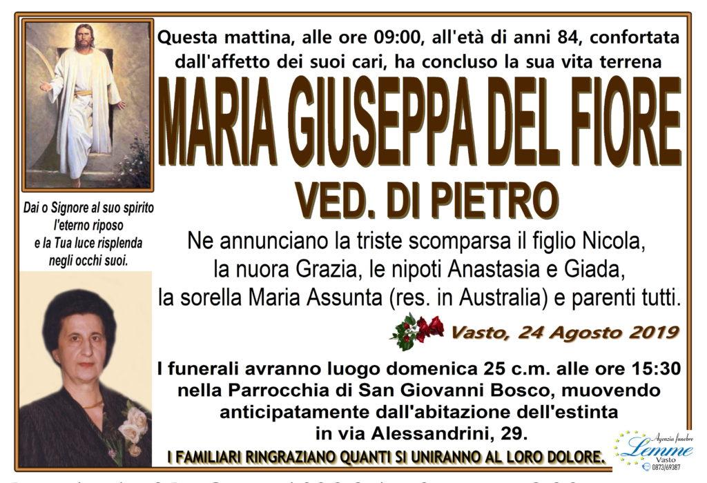 MARIA GIUSEPPA DEL FIORE