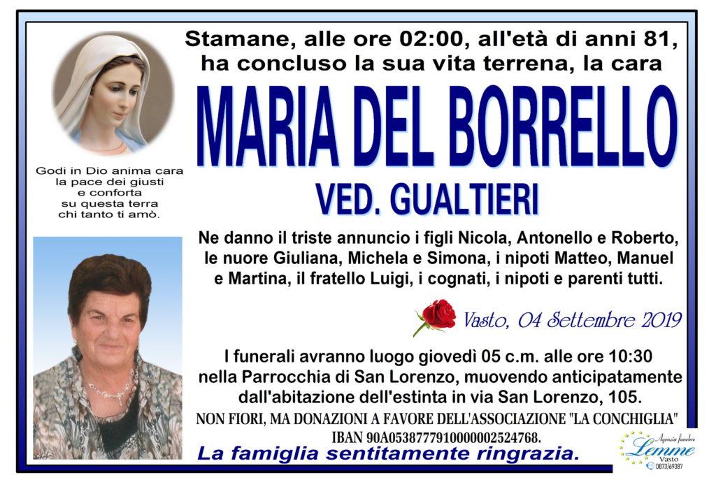MARIA DEL BORRELLO