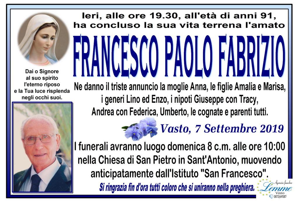 FRANCESCO PAOLO FABRIZIO