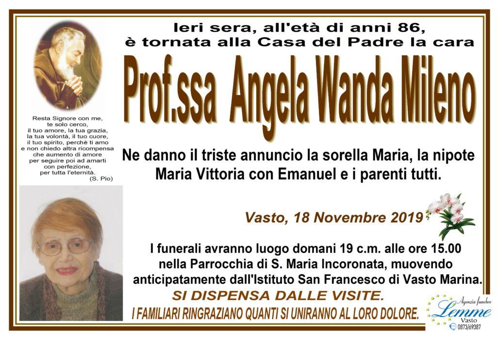 PROF.SSA ANGELA WANDA MILENO