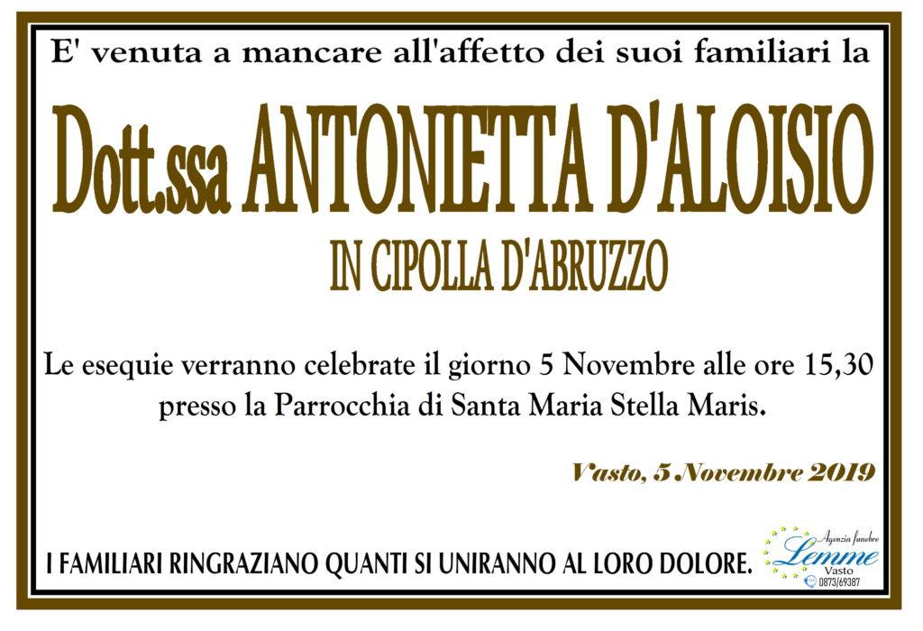ANTONIETTA D'ALOISIO