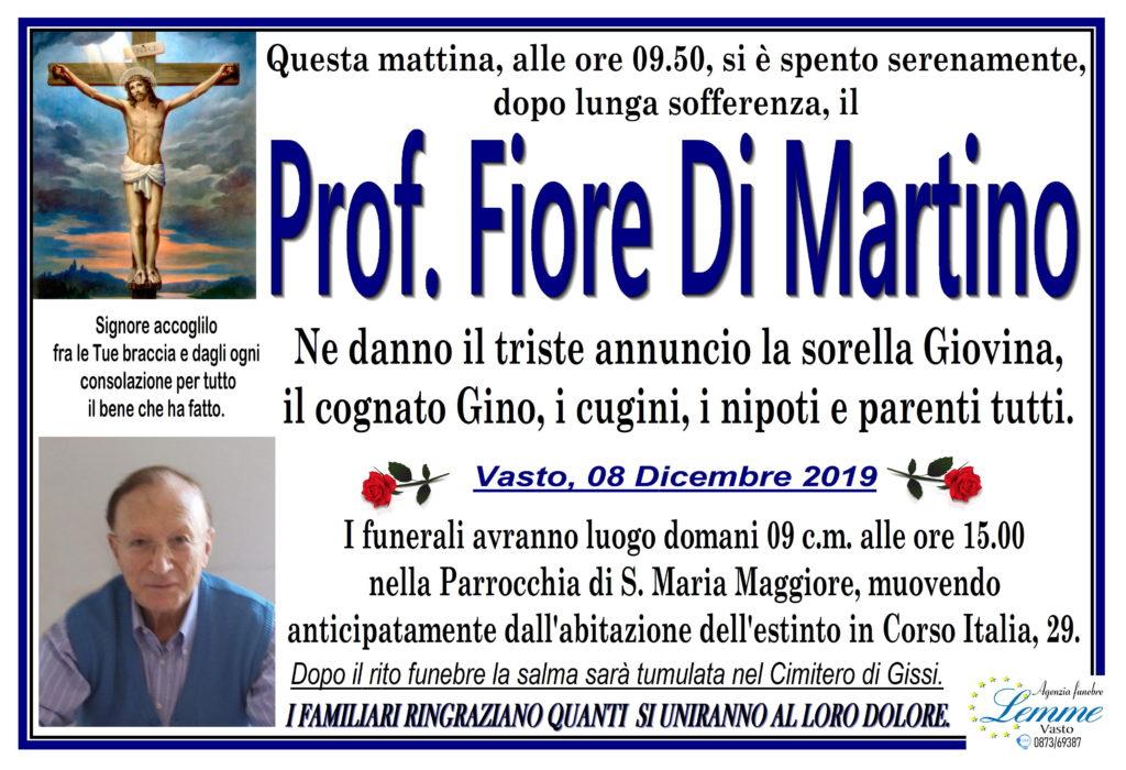 PROF. FIORE DI MARTINO