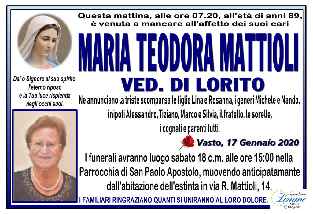 MARIA TEODORA MATTIOLI
