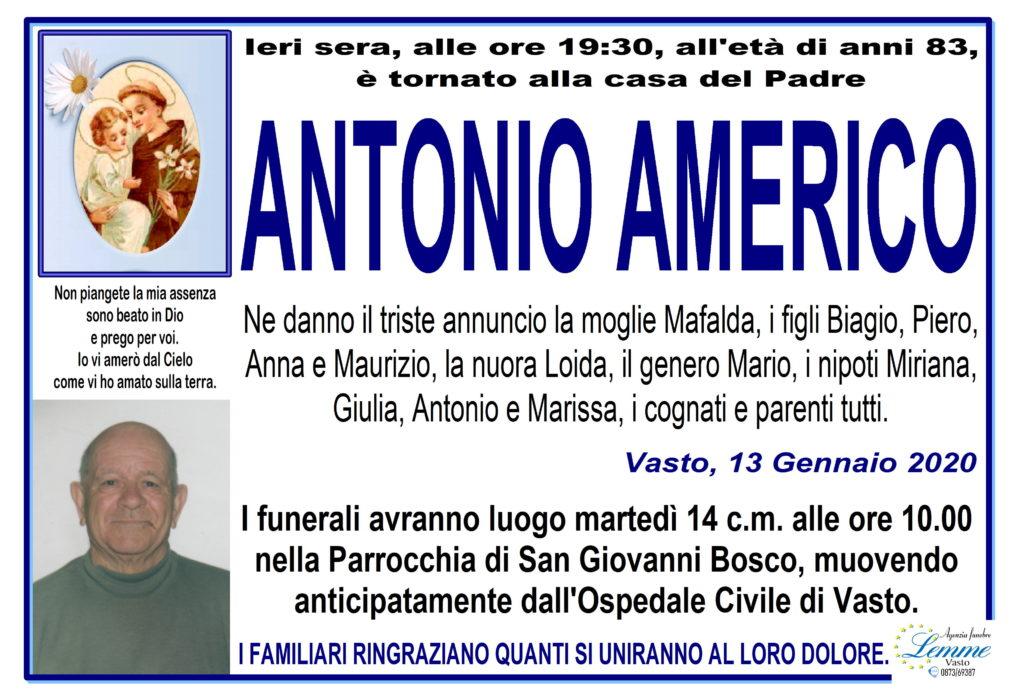 ANTONIO AMERICO