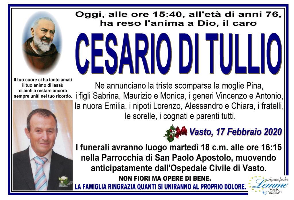 CESARIO DI TULLIO