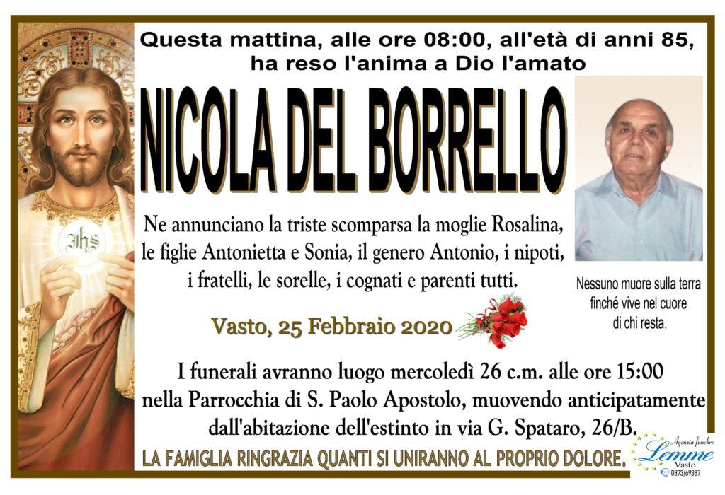 NICOLA DEL BORRELLO